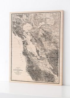 Bay of San Francisco Wood Print Map Home Decor by DesignOutfitters