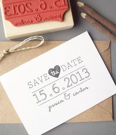 DIY Save the Date via StampCouture on Etsy