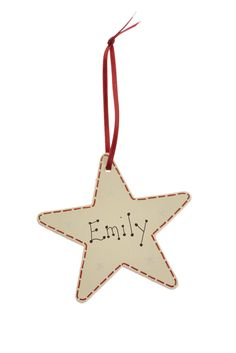 Named present tag - personalised - Star Decorations, Personalized Tags, How To Find Out, Presents, Christmas Ornaments, Stars, Holiday Decor, Handmade, Gifts