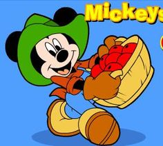 Help Mickey Mouse collect all the apples that are falling from the trees and do not let him get lazy because if he misses an apple you can lose the game. Speed changes fast so be ready to collect the apples very fast or very slow depending on how many you have already.