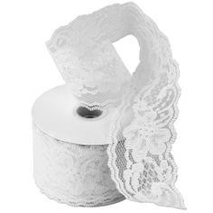 Lace Ribbons - White, 25 yd, $13.99, $0.55/yd