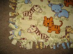 no sew baby blanket