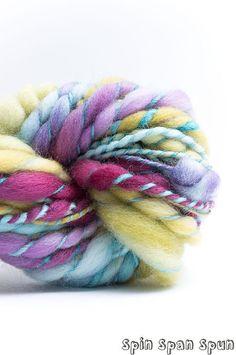 Petals CoilSpun BeeHive Art Yarn HandSpun HandDyed by SpinSpanSpun, $42.00