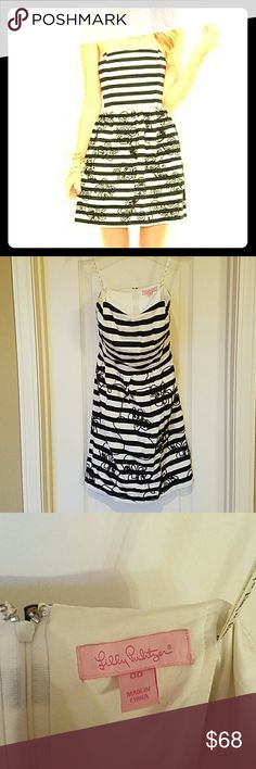 Lilly Pulitzer Payton Swizzle Stripe Dress Excellent used condition. Lilly Pulitzer Dresses Strapless