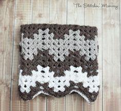 Crochet Granny Ripple Baby Afghan www.thestitchinmommy.com