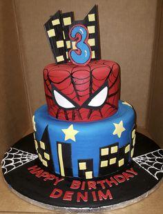 Calumet Bakery Spiderman Two Tier
