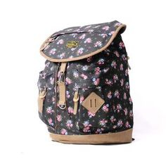 VISVAL JUNO BLACK FLORAL Backpacks, Photo And Video, Floral, Black, Fashion, Moda, Black People, Fashion Styles, Flowers