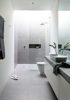 Baño moderno sin ventana