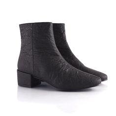 Women's Black Vegan Chelsea Boot - Annie    Made from pineapple leaf fiber!