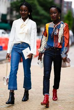 Der beste Street Style der New York Fashion Week - Mode für Frauen Street Style Chic, Looks Street Style, Cool Street Fashion, Style Outfits, Mode Outfits, Fashion Outfits, Fashion Trends, Style Fashion, Fashion Weeks