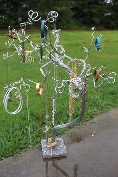Jewelry Tree Necklace Organizer Bracelet Display by schenalindley, $85.00
