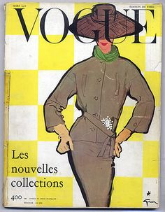 March 1956 - You'll Love These Illustrated Vintage 'Vogue' Covers - Photos Vogue Vintage, Capas Vintage Da Vogue, Vintage Vogue Covers, Vintage Linen, Vogue Magazine Covers, Fashion Magazine Cover, Fashion Cover, Guy Bourdin, Vogue Paris