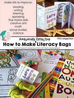 How to Make Awesomely Effective Literacy Bags + a Number Book Freebie