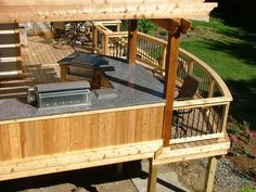 Cedar Deck with Outdoor Kitchen  Eden Prairie MN