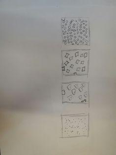Bij deze opdracht moesten we allemaal verschillende contrasten tekenen.
