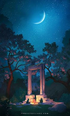 Umeshu Lovers ‏@UmeshuLovers Sunset, dusk and night in the Forest of Liars.