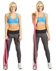 Arm exercises at home with Resistance bands.