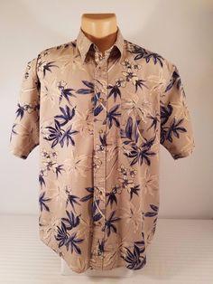 Mens Natural Issue Tropical Hawaiian Short Sleeve Button Down Shirt Size XL #NaturalIssue #ButtonFront