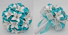 buque Paper Flower Arrangements, Paper Flowers, Origami Bouquet, Apostles Creed, Hand Bouquet, Blessed Mother, Budgies, Real Flowers, Wedding Bouquets