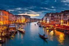 Photographic Print: Grand Canal at Night, Venice by sborisov : 24x16in