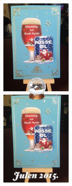 Så lige sidste slags julekort for i år, men var nu ikke helt sikker på om det skulle være med guld eller sølv, så måtte lave med begge slags :)