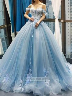 Light Blue Floral Prom Dresses Cinderella Quinceanera Dress – Viniodress Source by sanelakah dress Cinderella Quinceanera Dress, Robes Quinceanera, Pretty Quinceanera Dresses, Floral Prom Dresses, Strapless Prom Dresses, Cinderella Dresses, Quince Dresses, Formal Dresses For Weddings, Cinderella Princess
