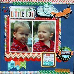 #papercraft #scrapbook #layout Always My little Boy - Scrapbook.com