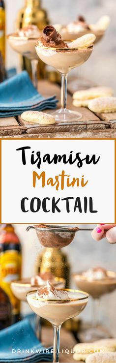 This #tiramisu #martini is the #cocktail concoction you've been waiting for. This recipe makes two martinis, perfect to share with someone who loves sweets too!