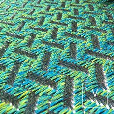 "[ San Andrés & Providencia ] In the last photo we showed you the most beautiful picture of the crystalline waters of San Andrés y Providencia. Carlos Vera Dieppa named this beautiful color of greens and blues ""Providencia"" inspired by the most beautiful Sea the sea of 7 colors. #VerdiDesign #WeavingIntoNature #Metal #Weaves #Rugs #Handcrafted #Colombia #InteriorDesign"