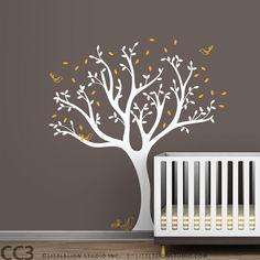 Tree Wall Decal for Baby Nursery Tree Decals, Wall Stickers Murals, Wall Decals, Sticker Mural, Wall Art, Purple Walls, White Walls, Dark Walls, Nursery Themes