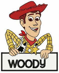 Sheriff Woody Pride machine embroidery design from Toy Story machine embroidery collection for boy's backpacks. Bernina Embroidery Machine, Machine Embroidery Projects, Jessie Toy Story, Toy Story Buzz, Dibujos Toy Story, Sheriff Woody, Pillow Embroidery, Learn Embroidery, Pixar