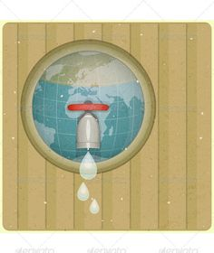 Eco Water Planet Concept  #GraphicRiver         Ecology concept Water planet, planet in drop of water and water tap, front view, Retro Poster Vector illustration. EPS10 . File has transparency.     Created: 22November12 GraphicsFilesIncluded: VectorEPS Layered: No MinimumAdobeCSVersion: CS3 Tags: abstract #background #clean #concept #design #earth #eco #ecology #environment #environmental #global #globe #green #illustration #life #nature #ooze #organic #planet #protection #recycling #retro…