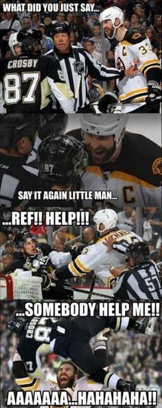 Not a fan of chara or Crosby but it is kinda funny. - Funny Sports - - Not a fan of chara or Crosby but it is kinda funny. The post Not a fan of chara or Crosby but it is kinda funny. appeared first on Gag Dad. Funny Hockey Memes, Hockey Quotes, Funny Sports Memes, Sports Humor, Funny Memes, Hockey Puns, Volleyball Memes, Funny Football, Sport Quotes