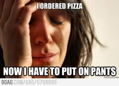 First World Problem with Pizza Ordering