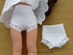 Baby Accessories Make doll panties out of baby socks (for Les Chéries or - American Girl Dolls Sewing Doll Clothes, Baby Doll Clothes, Sewing Dolls, Doll Clothes Patterns, Barbie Clothes, Clothing Patterns, Sewing Patterns, Doll Patterns, Diy Clothes For Dolls