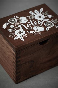 this is meant for weddings, but it could easily store recipes or photos or any sort of lovely little sentiment.
