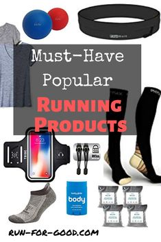 From cell phone armbands to running socks to massage roller balls, here are some must-have, highly-rated, and popular running products that won't disappoint.  #runninggear