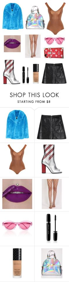 """""""Blade Runner 2049"""" by perse-phone ❤ liked on Polyvore featuring Diane Von Furstenberg, Zimmermann, Anya Hindmarch, Pilot, Quay, Marc Jacobs, Gucci, Sugar Thrillz and Louis Vuitton"""