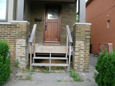 Brick Front Porch Steps Designs See deck railing http://awoodrailing.com