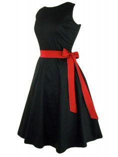 Hemet Women's Classic Black Full Circle Dress