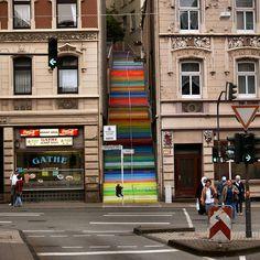 Arte urbano - Escalera