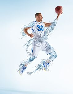 Photographer Tim Tadder (previously) and digital artist Mike Campau worked in collaboration to produce these impressive images featuring NBA MVP Steph Curry for Brita