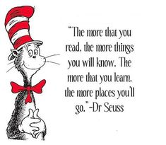 Seuss Reading Quote plus Running Record apps for the classroom - Cute Quotes Dr. Seuss, Quotes For Kids, Great Quotes, Inspirational Quotes, Funny Poems For Kids, Motivational, Lorax, Book Quotes, Me Quotes