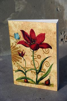 Tulip journal botanical illustration by GuBoArtBook on Etsy,