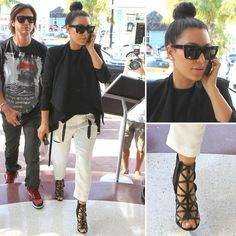 I LOVE these Celine sunglasses that Kim Kardashian is sporting. Def on my wish list.