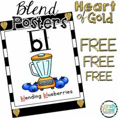 These FREE blend posters are great for teaching phonemic awareness and other phonics activities. This blog has a lot of tips to use these too!