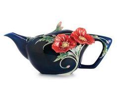 Franz Porcelain Serenity Poppy Teapot New in Box | eBay