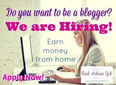 We are Hiring! Be a blogger and earn money from home. Check out our JOB BOARD to apply!