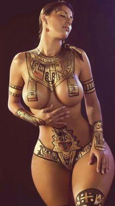 Mayan body paint