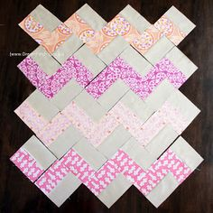 DreamPatch: Chevron pattern with no triangles- A free tutorial